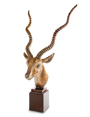 Presley Antelope Head Figurine - Natural