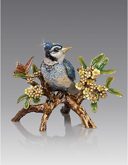 Anderson Blue Jay on Branch Figurine - Natural