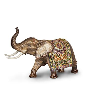 Duke Grand Tapestry Elephant Figurine - Brocade