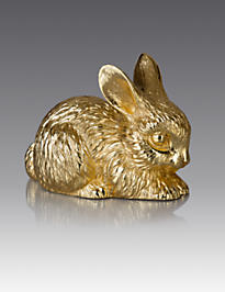 Claire Bunny Figurine - Gold