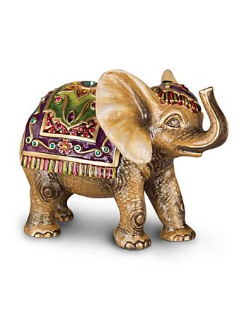 Colin Tapestry Elephant Figurine - Brocade