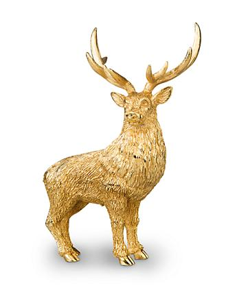 Foster Stag Figurine - Gold