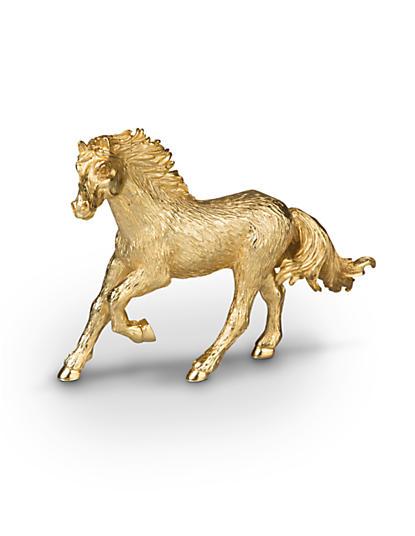 Annie Horse Figurine - Gold