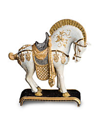 Braque Dynasty Horse Figurine - Jet Crystal