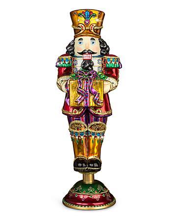 Nutcracker with Gift Glass Figurine - Jewel