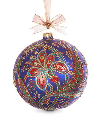 2017 Opulent Glass Ornament - Jewel