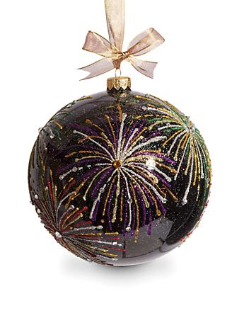 "Fireworks Artisan 6"" Ornament - Black"
