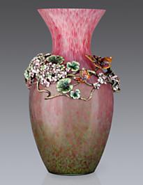 Elouise Floral Cluster Grand Vase - Rose Celadon