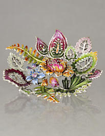 Margurite Palm & Floral Trinket Tray - Fleurs