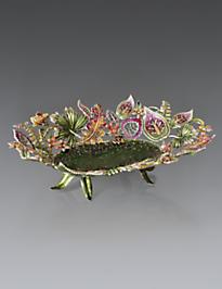 Fiona Palm Leaf & Floral Bowl - Fleurs