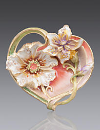 Margaux Floral Heart Trinket Tray - Boudoir