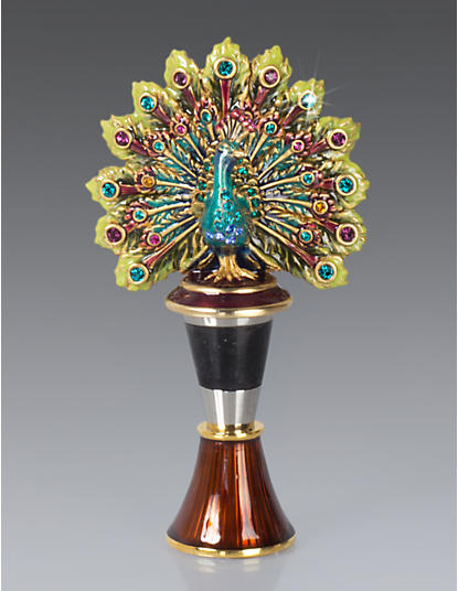 Hayden Peacock Wine Stopper - Peacock