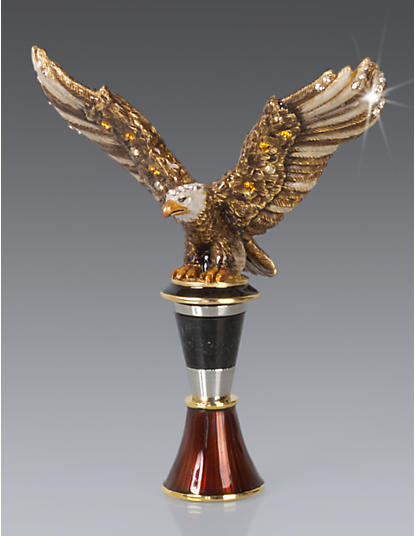 Nathaniel Eagle Wine Stopper & Stand - Natural