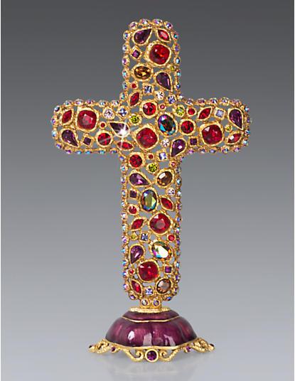 Theresa Bejeweled Cross Objet - Siam