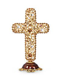 Theresa Bejeweled Cross Objet - Golden