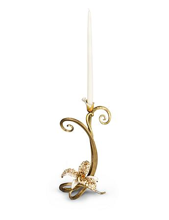 Mirabelle Orchid Single Candlestick - Golden
