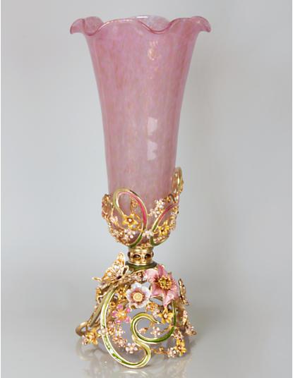 Corinne Floral & Scroll Vase - Boudoir
