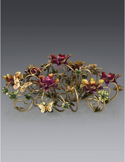 Claudine Floral & Butterfly Candelabra - Flora