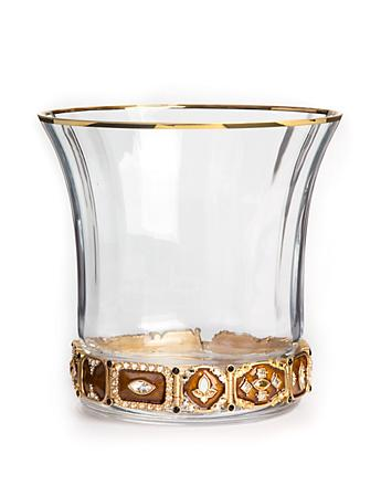 Ezra Jeweled Ice Bucket - Amber