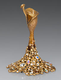Lance Bejeweled Small Candlestick - Gold