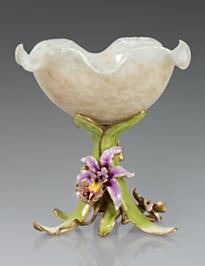 Adela Orchid Pedestal Bowl - Flora