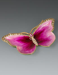 Juliet Butterfly Trinket Tray - Flora