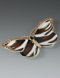 Juliet Butterfly Trinket Tray - Safari