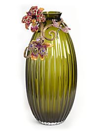 Jonah Lily Scroll Vase - Flora