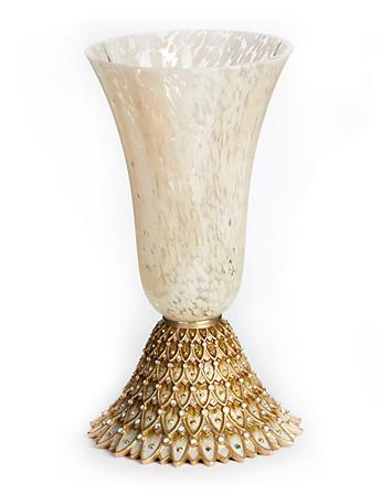 Sabrina Feather Vase - Golden