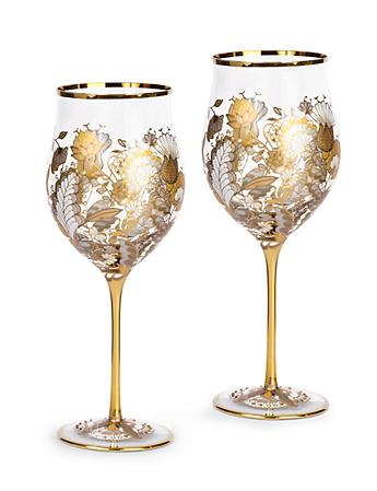 Cara Floral Vine Wine Glasses - Set of 2