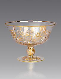 Adriana Floral Vine Bowl - Platinum