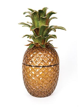 Winston Pineapple Jeweled Glass Jar - Bouquet