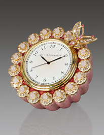 Maiti Flower Edge Butterfly Clock - Azalea