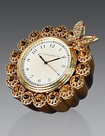 Maiti Flower Edge Butterfly Clock - Tortoise