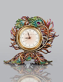Maxim Peacock Feather Clock - Peacock