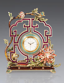 Preston Chrysanthemum Clock - Chinoiserie