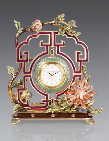 Preston Chrysanthemum Clock - Chinoiserie