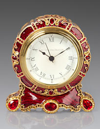 Bryce Crystal Scroll Clock - Ruby