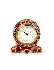 Bryce Crystal Scroll Clock - Ruby