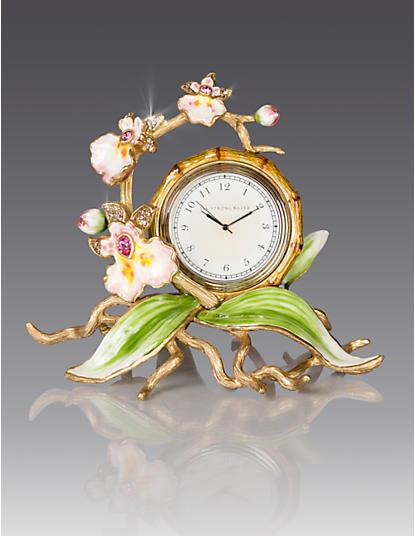 Tara Orchid Clock - Flora