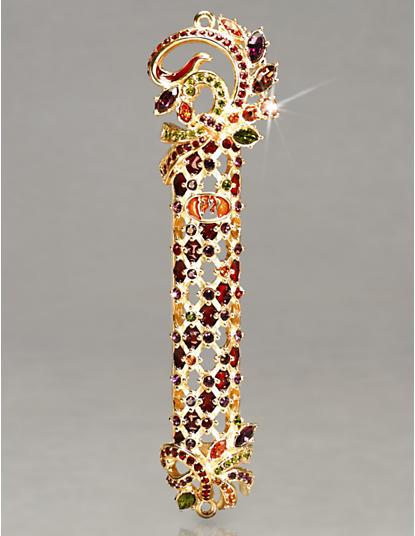 Shemarya Jeweled Lattice Mezuzah - Jewel
