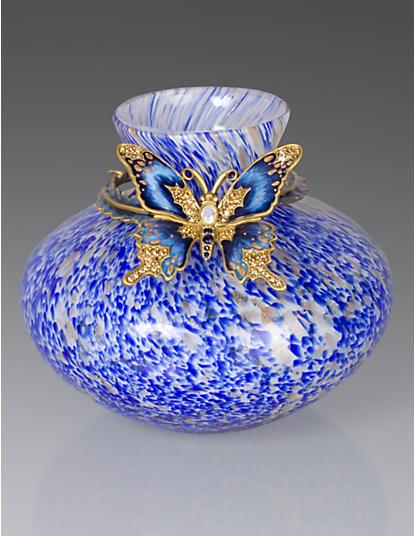 Lorelei Butterfly Vase - Delft Garden