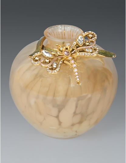 Alice Dragonfly Vase - Opal