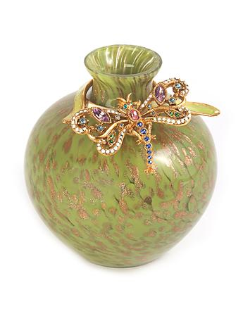 Alice Dragonfly Vase - Leaf