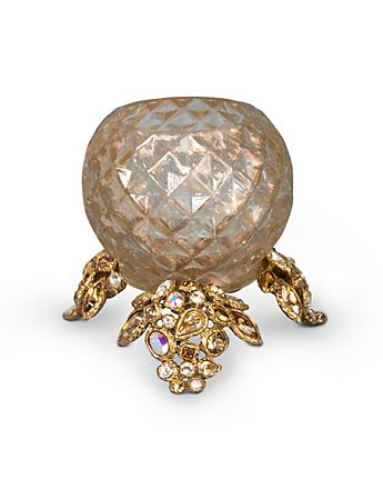 Tessa Bejeweled Tea Light - Golden