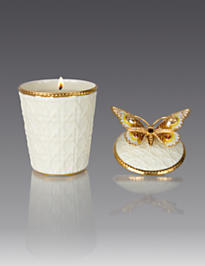 Bridget Butterfly Candle - Golden
