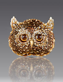 Fletcher Owl Trinket Tray - Natural