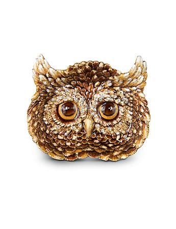 Fletcher Owl Trinket Tray - Natural