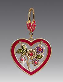 Paulette Floral Heart Key Chain - Siam