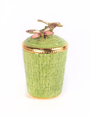 Ivy Dragonfly Candle - Rose Celadon